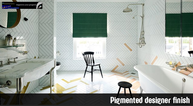 pigmented designer finish
