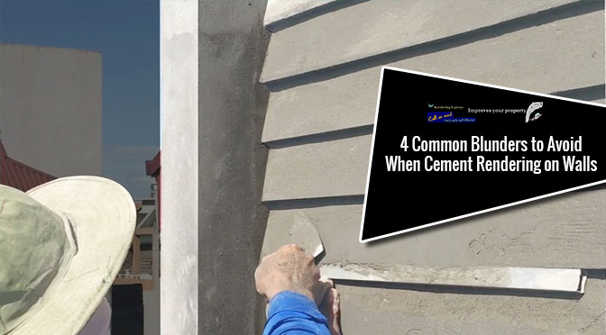cement rendering on walls